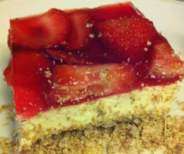 Torta de morango light -capa